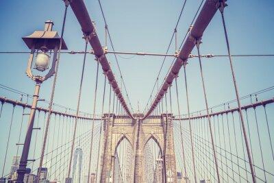 Sticker Image vintage tonique du pont de Brooklyn, NYC.