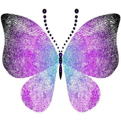 Sticker Imagination sale papillon vintage