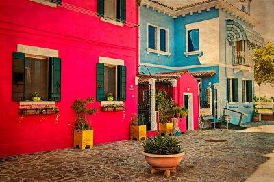 Sticker Immeuble coloré à Burano, Italie 1