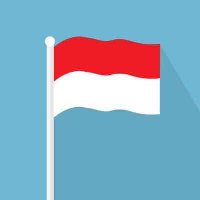 Sticker Indonesia flag icon- vector illustration