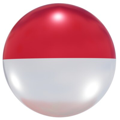 Sticker Indonesia national flag button