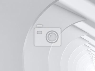 Intérieur blanc abstrait. Architecture minimale