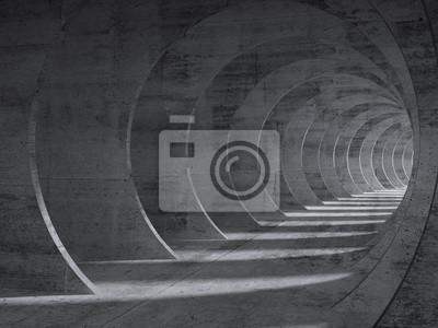 Intérieur de tunnel en béton avec effet de perspective