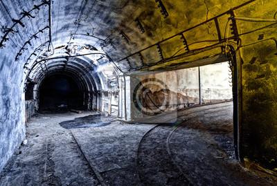 Intérieur, tunnel, abandonné, charbon, mine