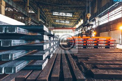Sticker Intérieur, vue, acier, usine, acier, industrie ...