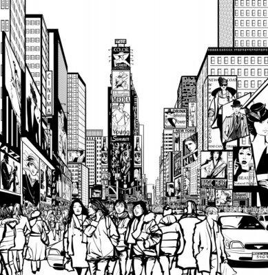 Sticker Interprétation de Times Square à New York