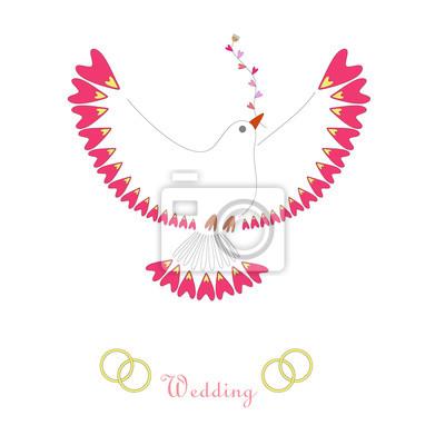 Invitation de mariage de colombe