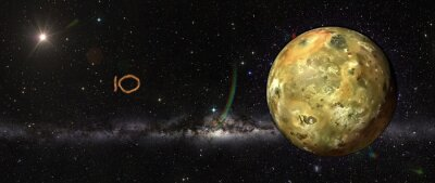 Sticker Io dans l'espace.
