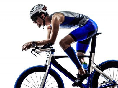 Sticker Iron Man triathlon athlète cycliste vélo