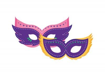 Sticker Isolated mardi gras masks vector design