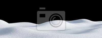 Sticker Isolated snow hills landscape. Winter snowdrift background.