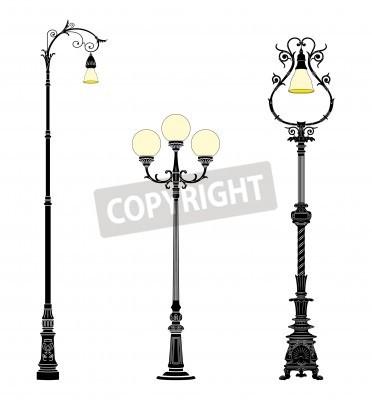 Sticker Italian forged iron elegant street lamps