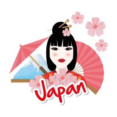 Sticker Japon conception de la culture