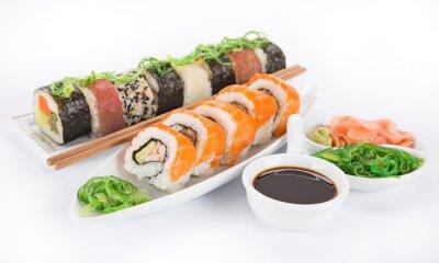 Sticker Japonaise ensemble des fruits de mer de sushi