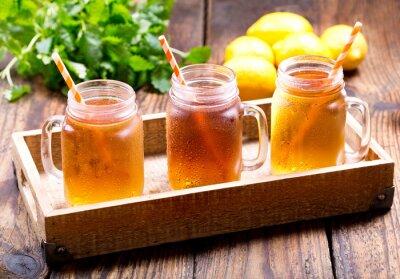 Sticker Jarres, citron, glace, thé