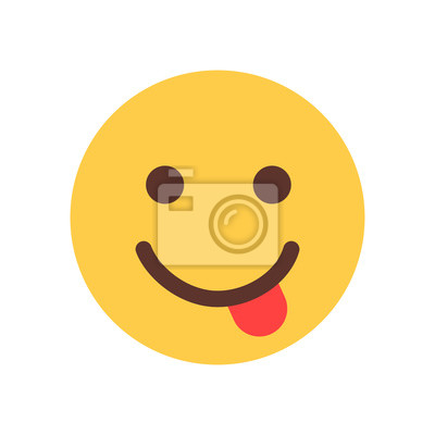sticker jaune sourire dessin visage visage langue emoji personnes - Langue Dessin