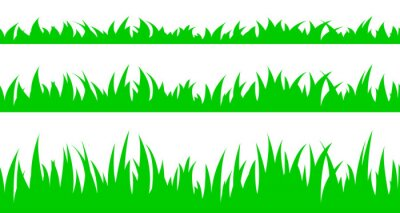 Sticker Jeu d'herbe transparente.