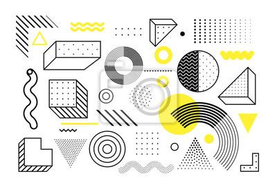 Sticker Jeu de formes géométriques tendance universelle