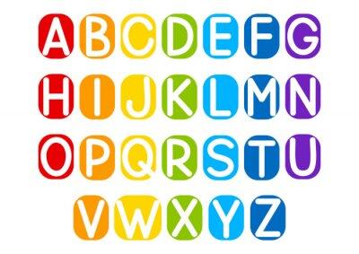 Sticker Jeu de lettres de vecteur pour votre conception