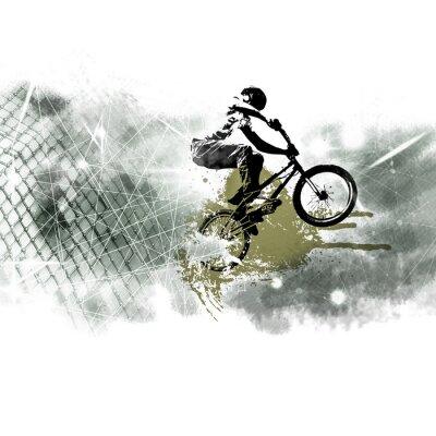 Sticker Jeune cavalier de vélo masculin. Mode de vie sain.