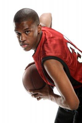Sticker Jeune, noir, basket-ball, joueur