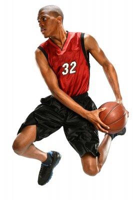 Sticker Joueur de basket trempant boule