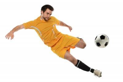 Sticker Joueur de football en action