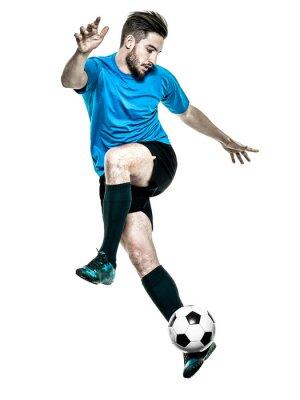 Sticker Joueur de football homme isolé