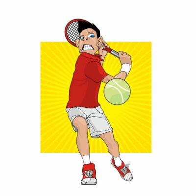 Sticker Joueur de tennis fou