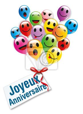 Sticker Joyeux Anniversaire Ballons 1