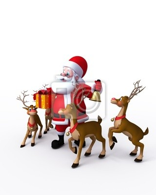 Joyeux Noël avec cloche et son renne