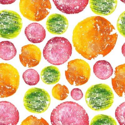 Sticker Juicy Bright Watercolor Circle Pattern