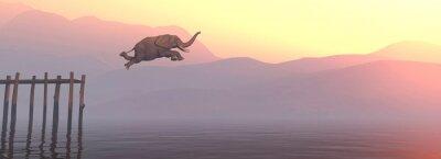Sticker Jump elephant