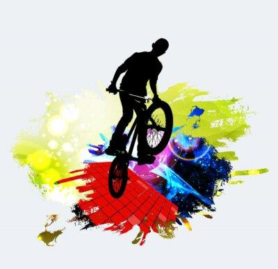 Sticker Jumper BMX pendant le saut de tour