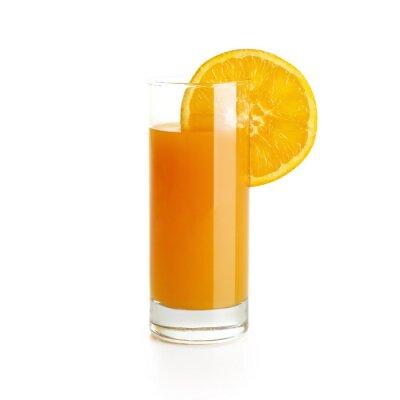 Sticker Jus d'orange avec une tranche
