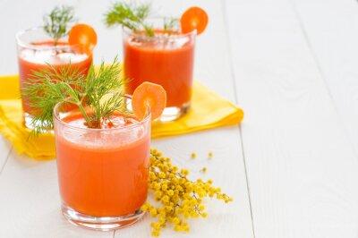 Sticker Jus de carotte, verres, mimosa, branche
