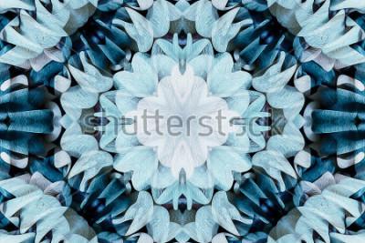 Sticker Kaléidoscope avec bel ornement de couleur - résumé de fond complet - sans soudure