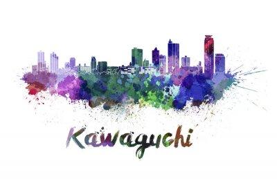Sticker Kawaguchi, Horizon, aquarelle
