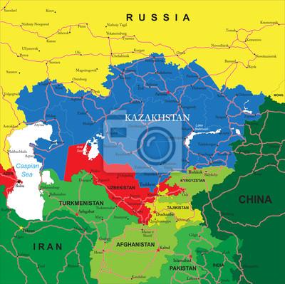 Kazakhstan carte