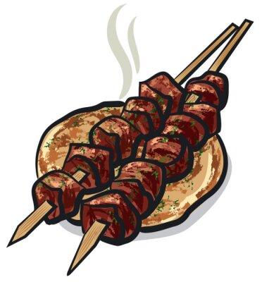 Sticker Kebab de viande