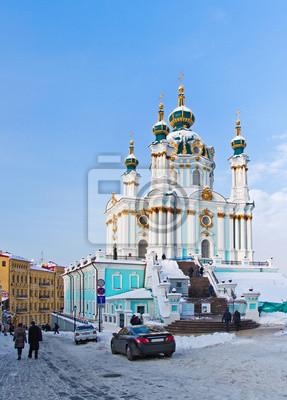 Kiev, Eglise d'Andrew en hiver
