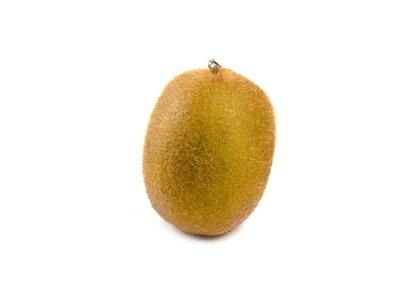 Sticker Kiwi fruits isolé sur fond blanc