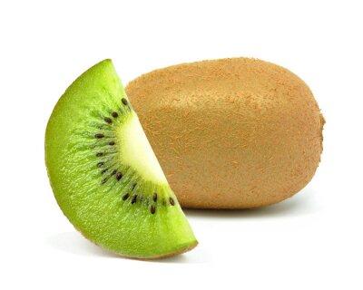 Sticker kiwi sur un fond blanc
