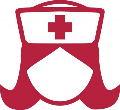 Krankenschwester Piktogramm Kopf Symbole