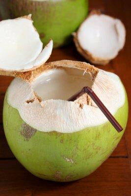 Sticker L'eau de noix de coco verte