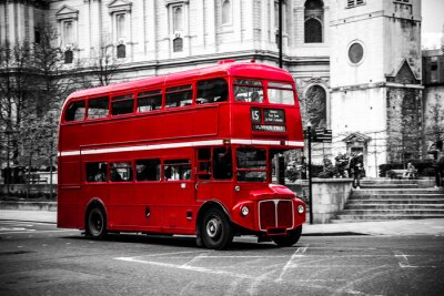 Sticker L'emblématique bus à deux étages de Londres.
