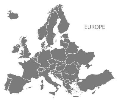 Sticker L'Europe avec les pays