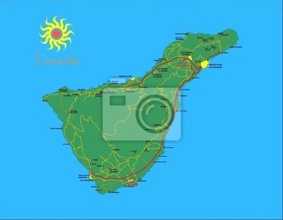 L'île de Tenerife carte