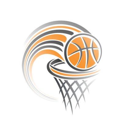 Sticker L'image d'un ballon de basket-ball