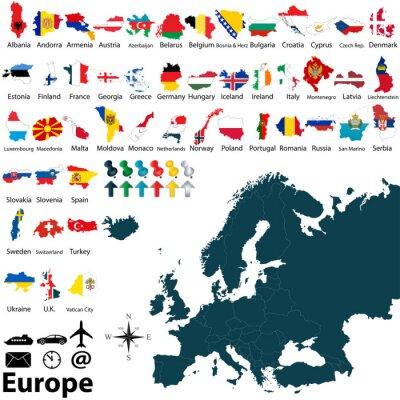 Sticker La carte politique de l'Europe
